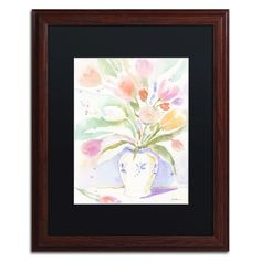 The Vase of Tulips by Sheila Golden Framed Painting Print