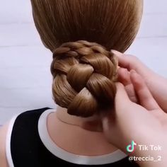 Easy Braided Updo - 17 Elegant Updos for Pretty Ladies - The Trending Hairstyle Easy Braided Updo, Braided Bun Hairstyles, Down Hairstyles, Braided Hairstyles, Loose French Braids, Hair Upstyles, Short Hair Styles Easy, Half Up Half Down Hair, Elegant Updo