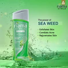 Revitalise your skin with Seaweed in the Fiama Di Wills Exfoliating Beads Shower Gel. #BeYoung with the #MagicOfGel