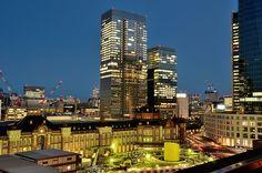 "Tokyo Station, Marunouchi. ""Good-bye South tower"" / 丸の内・東京駅"