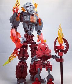 Toa Kuuma and Turaga Valkea #lego #bionicle #legomoc #characterdesign #artistsoninstagram #biogram