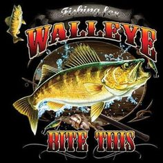 Fishing For Walleye Bite This Adult Unisex LONG SLEEVE Black T Shirt 20476HD1 #JustFishing