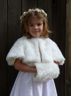 This Faux Fur Bolero Cape and Hand Muff is perfect for winter weddings.