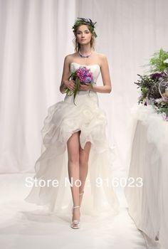 296dd6e5d5bc principessa abito da sposa 2013 corto davanti lungo coda coreano versione  dolce sposa matrimonio nozze piega