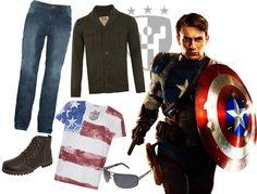 Inspiração The Avengers - Look Capitão América