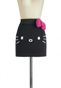 Hello Kitty as a cute mini skirt. (via Mew Complete Me Skirt Cute Skirts, Mini Skirts, Short Skirts, Hello Kitty Clothes, Kawaii, Girls Night Out, Vintage Skirt, Couture, Swagg