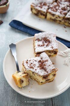 Torta con crema di ricotta e cioccolato