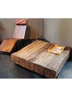 Tavolino legno castagno massello vintage