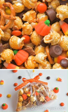 This scarecrow crunch snack mix is SO EASY and tastes so good! With the perfect combo of sweet and salty it makes a great Halloween or Thanksgiving treat! Fall Snack Mixes, Snack Mix Recipes, Fall Recipes, Holiday Recipes, Dinner Recipes, Thanksgiving Snacks, Fall Snacks, Holiday Snacks, Thanksgiving Blessing