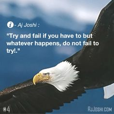 Do not fail to try