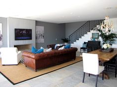 The Sandberg Home - beach style - family room - orange county - Tara Bussema