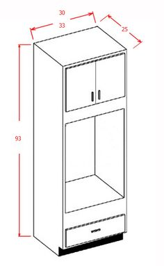 """93""""H - Double Oven Cabinet"""
