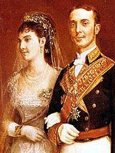 Maria de la Mercedes of Orléans   Married 23 January 1878 at the church of Atocha, in Madrid
