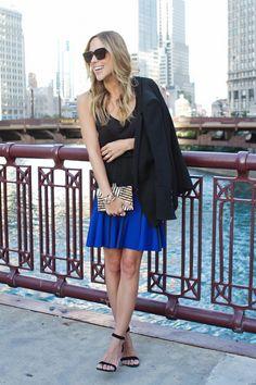 Herve Leger Skirt on Loan {can be purchased here on sale for $949} // Kelly Wearstler Fractured Clutch {$795} // Vita Fede Bracelets & Ring // ATM Tank {$62} // Helmut Lang Blazer {similar one here} // Steve Madden Real Love Heels {$80}