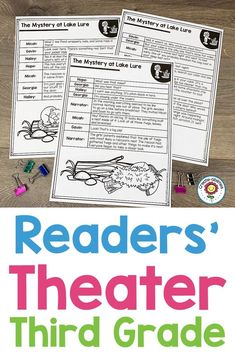 Readers' Theater Passages GRADE Readers' Theater Passages GRADE - Use this 132 page pack with your third graders to focus on Readers Theatre. You get a dictionary page, Readers Theater, Shared Reading, Comprehension Questions, Reading Resources, Upper Elementary, Literacy Centers, Teaching English, Third Grade, Writing Prompts