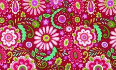 Dena Designs Fabric-Love & Joy-Daisy-Red