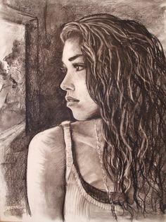 "Custom Charcoal Portrait 18"" x 24"", by Sasha Mirzoyan on Etsy, $52.00"