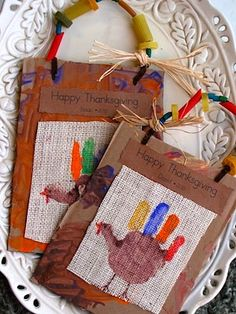 "Share And Remember handprint turkey Thanksgiving craft for kids keepsakes - *Gonna make ""doggie bags"" to send home desserts with guests. Love this. Can start NOW!"