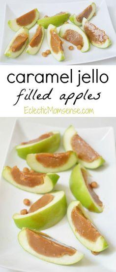 Caramel Jello Filled Apples | Inspired by Disney Descendants. #recipe #disney