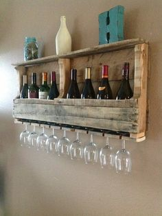 Nice idea for a wine rack. Should be easy to make, too.