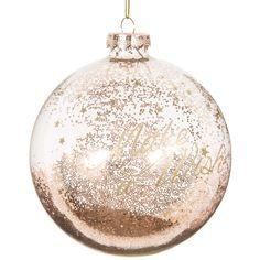 Boule de Noël transparente dorée en verre 10 cm GOLD | Maisons du Monde