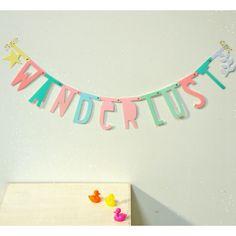 """""""Letter Banner"""" Pastel - Guirnalda de letras Little Lovely Company"""
