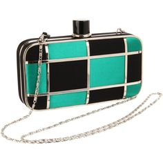 Tianni Magid 6688 Clutch (€60) ❤ liked on Polyvore featuring bags, handbags, clutches, magid purse, black box clutch, accessories handbags and box clutch