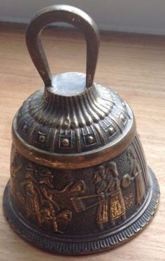 Temple-Bell-Egyptian-Scene-See-Pic