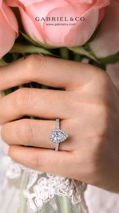 This spectacular split shank engagement ring features a band that divides into two as it meets a pair of double diamond halos. Crafted from fine 14K white gold, this glamorous setting showcases 0.4cts of accent diamonds in order to magnify the brilliance of your 1ct pear shaped center stone. ER14917P4W44JJ #EngagementRings #PearShapedEngagementRing #WhiteGoldEngagementRings #HaloEngagementRings #DiamondEngagementRing #GabrielNY #PearshapedRing Split Shank Engagement Rings, Pear Shaped Engagement Rings, Diamond Engagement Rings, Pear Shaped Diamond, Halo Diamond, Jewelry Branding, Fine Jewelry, White Gold, Shapes
