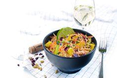 Veganer Asiatischer Nudelsalat: Einfach, lecker und ratz fatz. Dazu passt perfekt der Sauvignon Blanc vom Erich Meiner Weingut. Genießt es einfach zusammen!