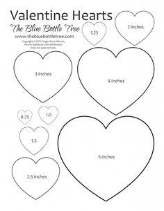 Valentine Heart Printable ClipArt sheet