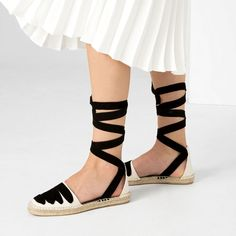 LACE-UP ESPADRILLES-View all-SHOES-WOMAN   ZARA United States