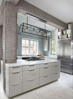 Hängeregal kücheninsel  Küchen mit Kochinsel küchenblock freistehend holz texturen | Küche ...