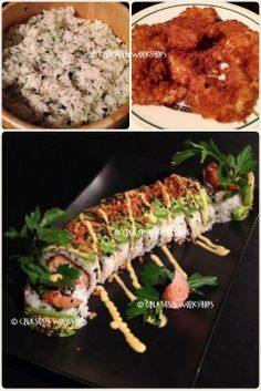 Our tempura-shrimp Dragon-roll with seasoned rice. https://www.facebook.com/crea.sushiworkshops