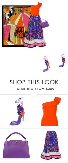 """""""Il Duomo"""" by theitalianglam ❤ liked on Polyvore featuring Casadei, Emilio Pucci, Roland Mouret, Louis Vuitton and emiliopucci"""