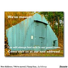 New Address / We've moved / funny bunker photo Postcard