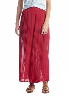 Living Doll  Pleated Maxi Skirt
