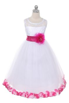Cute Flower Girl Dress with Flower