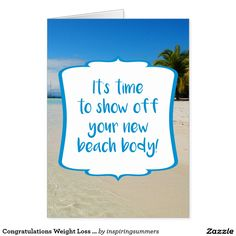 Fun poolside weight loss success congratulations greetings card congratulations weight loss success beach body card perfect greetings card for anyone whos successfully lost weight and is about reveal their new body at m4hsunfo