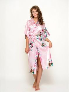 Gorgeous and beautiful satin floral robes , a perfect gift for you and your girls for the wedding day !Each robe has an outer belt to make the robe adjustable in size and with two front pockets. Bridesmaid Robes, Looking Stunning, Your Girl, Wrap Dress, Satin, Floral, Pink, Beautiful, Dresses