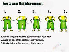male pattern boldness: Thai Fisherman Pants + Shirt Update