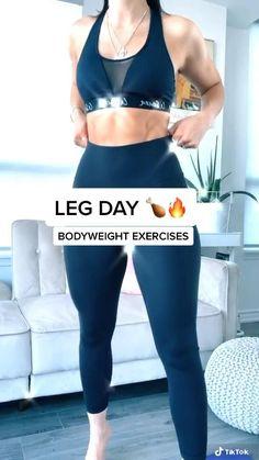 Fitness Workouts, Gym Workout Videos, Gym Workout For Beginners, Fitness Workout For Women, Fitness Goals, Body Fitness, Fitness Tips, Beginner Leg Workout, Leg Workout Women