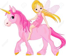 Cute Little Fairy Riding On A Unicorn Royalty Free Cliparts, Vectors, And Stock Illustration. Image 10487116.