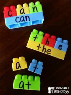 Legos can give so many teaching opportunities! Here's an activity for teaching sight words with Legos! Literacy Activities, Educational Activities, Preschool Activities, Spelling Activities, Learning Activities For Toddlers, Spelling Ideas, Sight Word Activities, Toddler Educational Games, Activities For 4 Year Olds