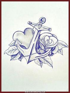 Beautiful anchor tattoo design… I love the heart – foot tattoos for women Tattoo Drawings, Body Art Tattoos, Small Tattoos, Cool Tattoos, Tatoos, Anker Tattoo Design, Wolf Tattoo Design, Engel Tattoos, Bild Tattoos