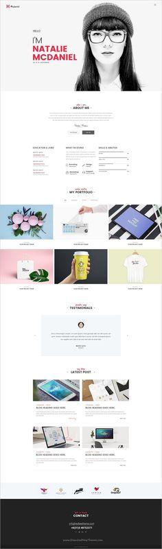 Redbee is a wonderful multipurpose #Photoshop template for stunning #freelancer #designer website download now➩ https://themeforest.net/item/redbee-multipurpose-multi-business-psd-template-vol02/18710954?ref=Datasata