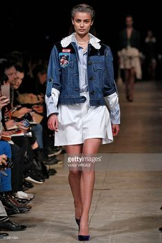 Taylor Hill walks the runway during the Miu Miu fashion show as part of the Paris Fashion Week Womenswear Fall / Winter 2016 on March 9, 2016 in Paris, France. (Photo by Victor VIRGILE/Gamma-Rapho via Getty Images)