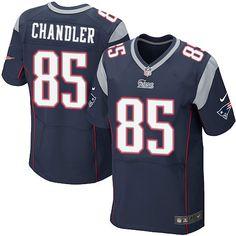 ec32d1718e2 NFL New England Patriots Scott Chandler Mens Elite Home Navy Black #85  Jersey