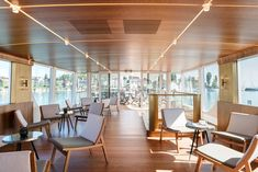 The ship, originally built in the has long served as a scheduled-service and excursion vessel for the Lake Constance Shipping Company. Fritz, Boat Design, Restaurant, Conference Room, Building, Table, Furniture, Home Decor, Architects