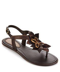 Jasmine+black+leaf-detail+sandals+by+Grendha+on+secretsales.com